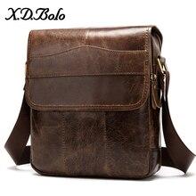 Сумка на плечо X.D.BOLO мужская из натуральной кожи, модный саквояж на плечо, портфель с карманами для работы, чемоданчик кросс боди