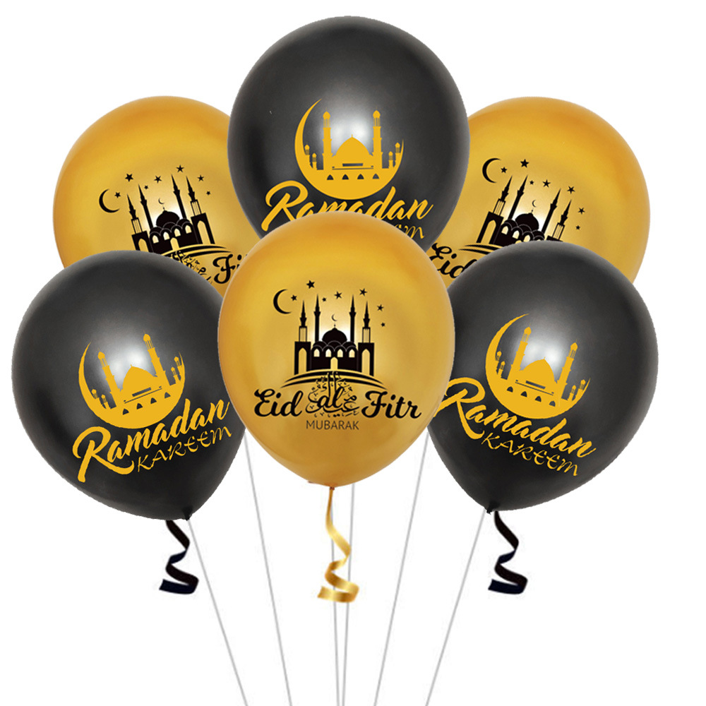 Image 4 - Eid Mubarak Balloons Ramadan Kareem New Year Islamic Muslim  Decoration Letter Banner  Paper Gift Stickers Backdrop Home DecorParty  DIY Decorations