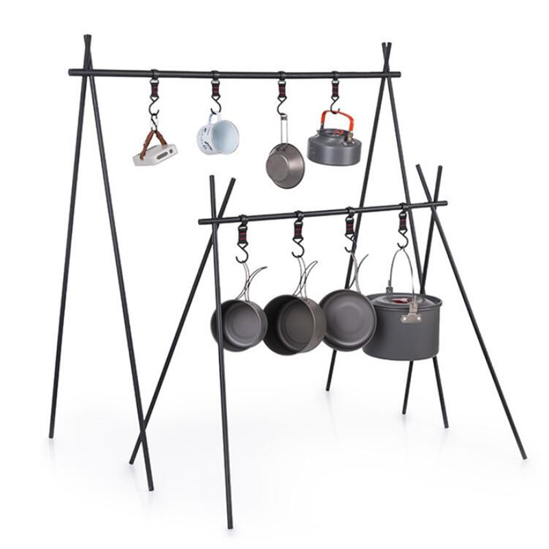 Outdoor Camping Rack Tourism Camping Triangle Rack Hanger Triangle Plant Rack Outdoor Furniture