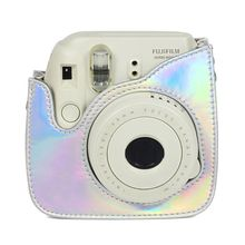 Fujifilm Instax Mini Instant Film Camera Case Hologram, PU Leather Case and Shoulder Strap for Instax Mini 9/ 8 Polariod Camera цена 2017