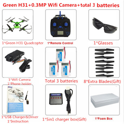 JJRC H31 RC Drone 2.4G Remote Control Quadcopter with camera Waterproof Headless mode 360° Tumbling One-click return Helicopter
