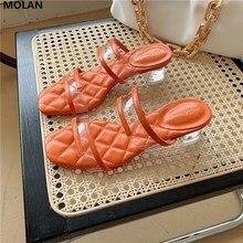 MOLAN Brand Sexy Transparent Heels Korea