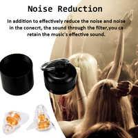 ZOHAN une paire de bouchons d'oreilles en Silicone souple bouchons d'oreille de musique professionnelle lavable réutilisable Protection auditive réduction du bruit bouchon d'oreille