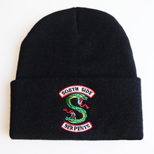 2019 Riverdale Cosplay Embroidery Knitting Beanie Cap Winter Warm Pullover Wool Hat Hip Hop Ski Hat striped rib knitting warm beanie hat