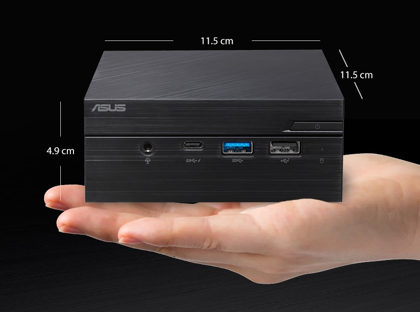 ASUS PN60 Ultracompact Mini PC, Intel Core i3 & i5 processors DDR4 RAM, dual storage, 4K UHD, Windows 10 Wi-Fi 5, USB 3.1,Type-C