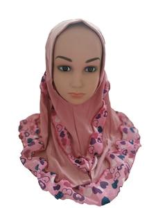 Image 5 - אופנה ילדי ילדי בנות מוסלמי פרח צעיף אסלאמי ערבית צעיפי כובעי ערבי מטפחת ראש כיסוי כיסוי ראש כובעי טלאים חדש