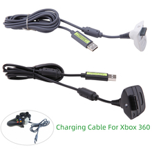 USB Charging Cable For Xbox 360 Wireless Game Controller USB Charger for Gamepad 1pcs usb to mini usb charging cable for ps3 game controller black 180cm