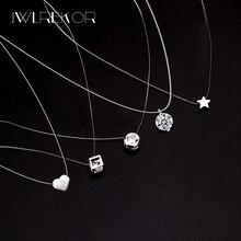 Женская прозрачная леска ожерелье невидимое ожерелье с подвесками на цепочке стразы колье ожерелье s ключица силиконовая цепь