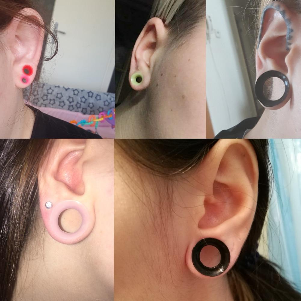 Resin Gauges 6mm Spade Plug Earrings Pink 6mm Ear Gauges Body jewelry- body mod FREE SHIPPING