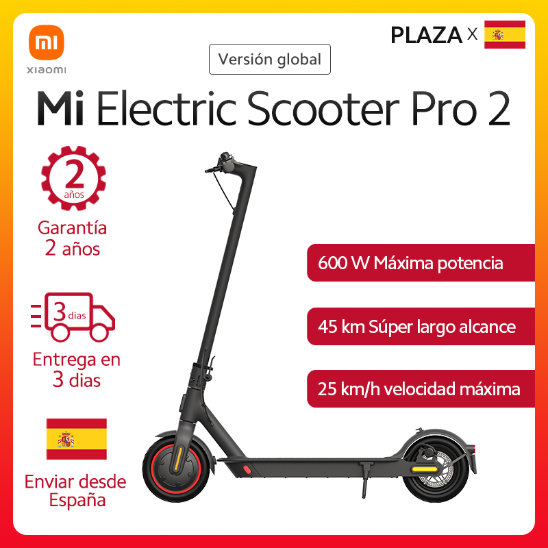Xiaomi patinete eléctrico Pro 2 versión Global, velocidad máxima de 25 km/h, 45km de larga distancia, 3 segundos de plegado rápido, compatible con Mi Home App|Control remoto inteligente| - AliExpress
