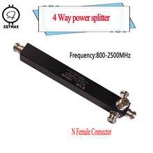 ZQTMAX séparateur de puissance diviseur 4 voies cavité N type 800-2500MHz pour 3G CDMA GSM téléphone portable Signal Booster répéteur et antenne