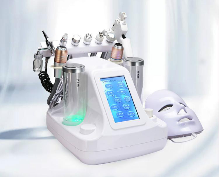 Upgraded Version 10 In 1  Water Oxygen Jet Skin Care Acne Treatment Facial Rejuvenation Small Bubble Skin Care Equipment