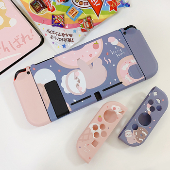 STARRY FOREST Doughnut Sloth Contrast color soft protective cute case for Nintendo Switch blue and pink for girls
