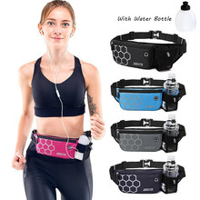 Mens Waist Fanny Pack Waterproof Women Running Bag Trail Fitness Water Bottle Mobile Phone Hold Gym Bags Sports Accessories
