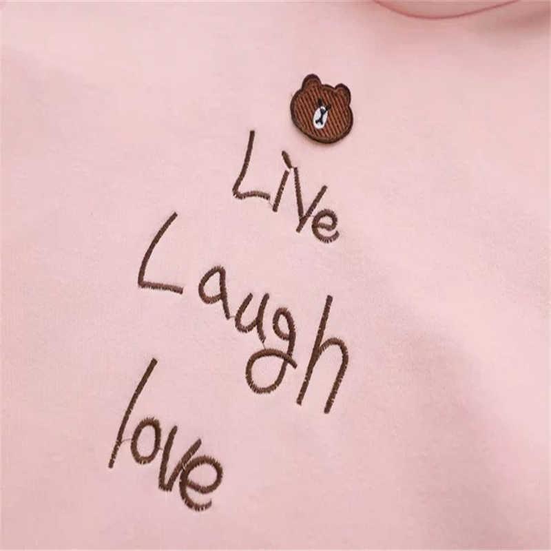 Merrt きれいな女性のセット愛漫画ベア刺繍スエットシャツとチェック柄プリーツスカート 2020 春の新ツーピースセット