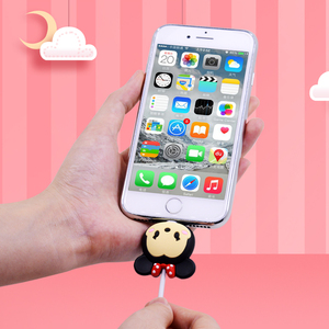 Image 4 - Cute Cartoon Bite Animal Cable Protector for iPhone USB Data Cable Chompers Charger Wire Winder Organizer Doll Model hellokitty