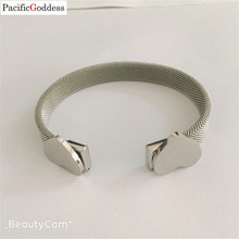 bear bracelet bangle heart sharp Stainless Steel Mesh bangle  Jewelry for best Gift Cuff Bracelets jewelry free ship high