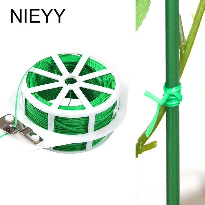 20/30/50m NIEYY Gardening Strap Plant Stand Twist Tie Wire Cable Reel Garden Greenhouse Support For Plants Plastic Plant Clips