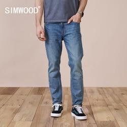 Simwood 2021 Lente Nieuwe Slim Fit Tapered Jeans Mannen Casual Basic Klassieke Broek Hoge Kwaliteit Merk Kleding SK130283