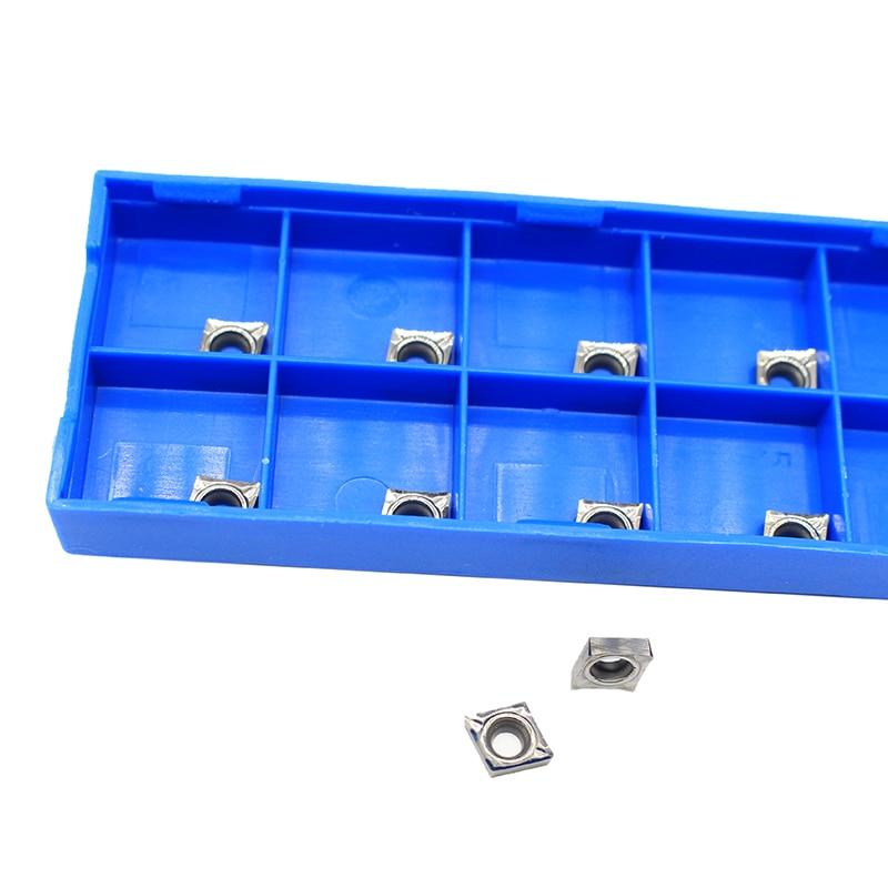 10pcs CCGT060204 AK H01 Cutters Hard Alloy Box-packed Cutter For CCGT21.51 CCMT0602 For Aluminum Copper CCGT 060204
