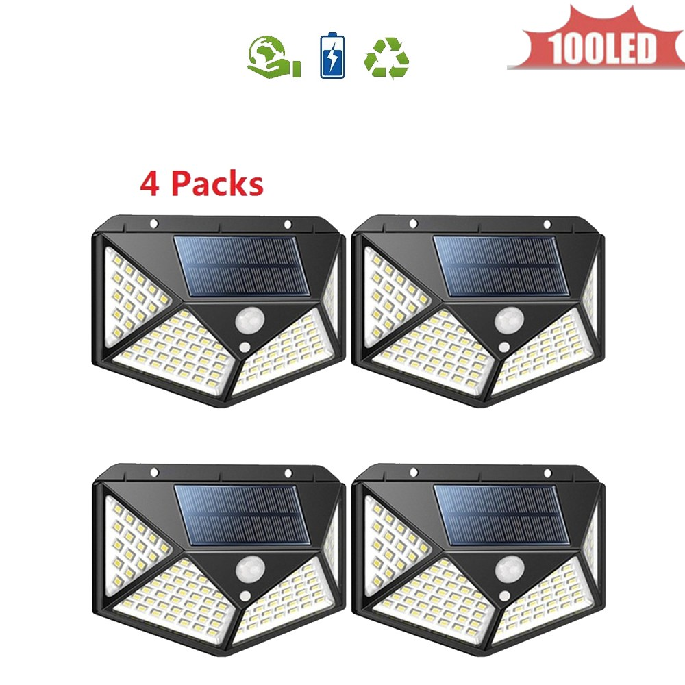 LED Solar Light Outdoor Lighting Of Garden Security Lamp Spotlights Waterproof Street Wall Light Solar Panels With Motion Sensor