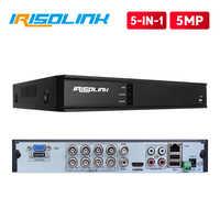 Irisolink 5MP 8CH AHD DVR 5 en 1 HYBRID H.265 grabadora de seguridad para 5MP/4MP 1080P AHD TVI CVI cámara analógica detección de movimiento