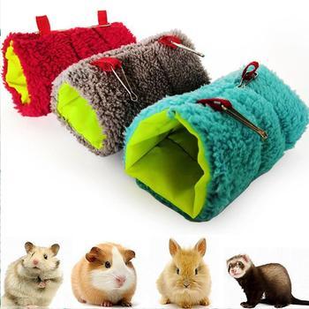 Małe zwierzę ciepły tunel hamak wiszące łóżko fretka szczur chomik ptak wiewiórka rzucić jaskinia Hut wiszące klatka ptaki domowe zapasy dla papugi tanie i dobre opinie Polar Plush