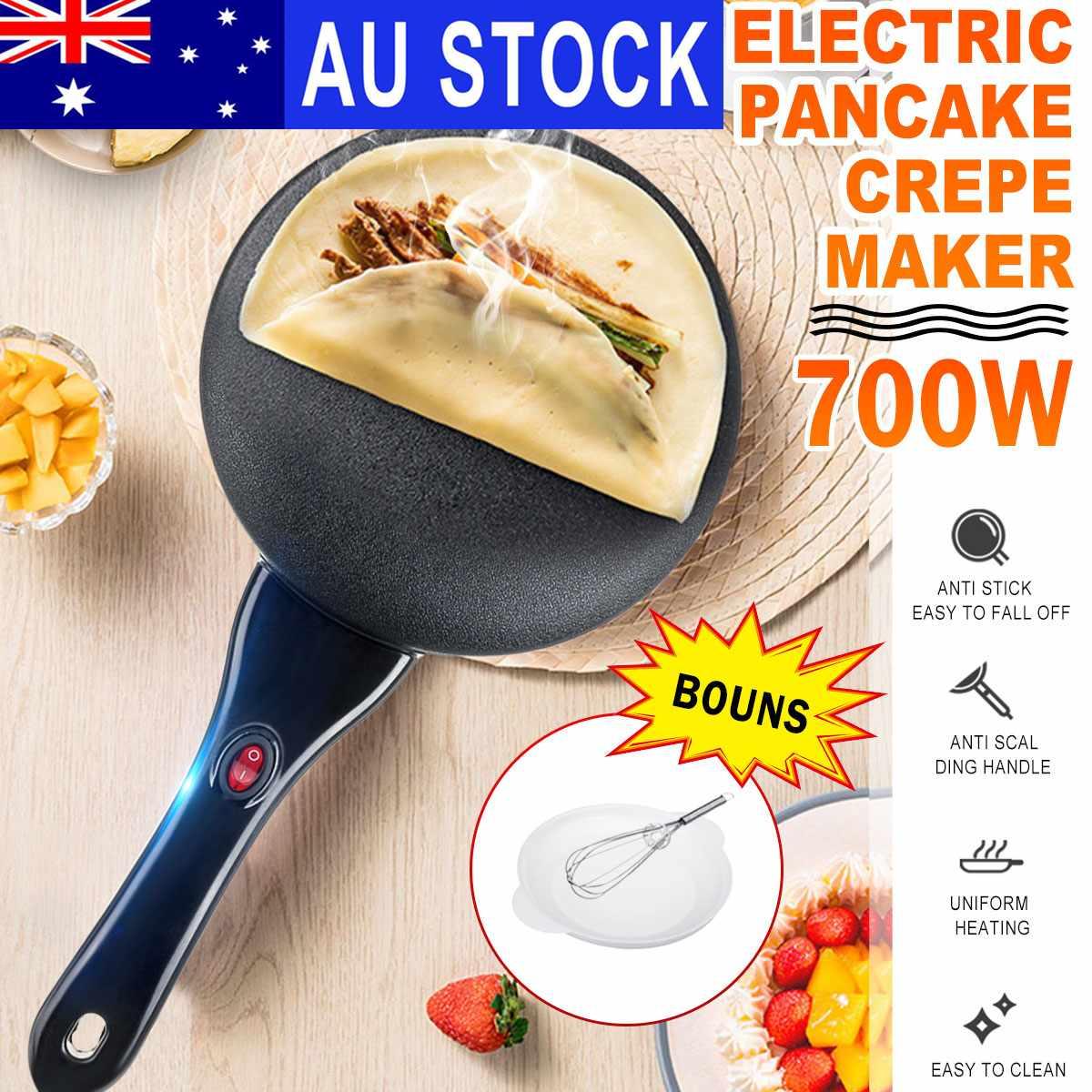 220V 700W Household Non-Stick Crepe Maker Pan Electric Pancake Cake Machine Frying Griddle Portable Kitchen Baking Tools