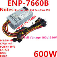 New PSU For Enhance FLEX Small 1U 600W Power Supply ENP-7660B