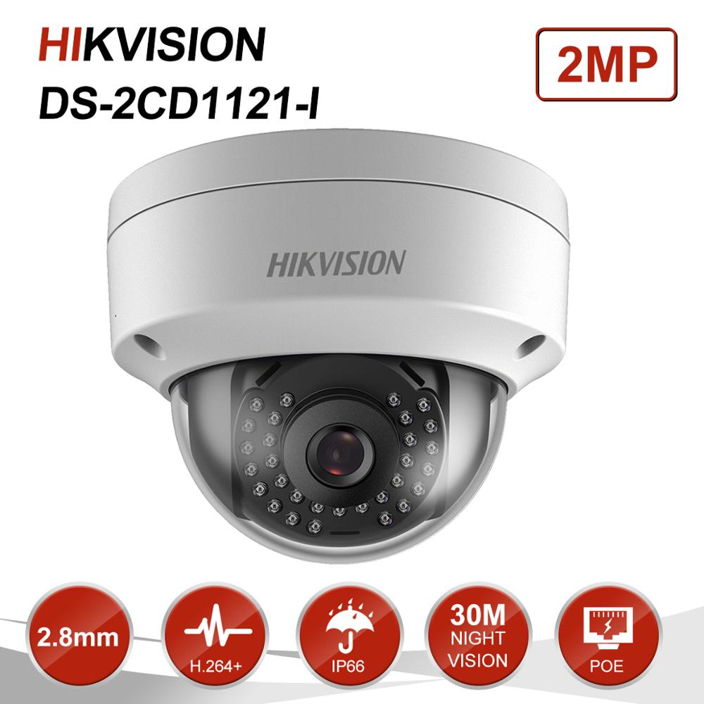 Image 2 - Orginal Hikvision 2MP Dome POE IP Camera Home/Outdoor Security ONVIF With DWDR IP 67 IR 30m Vdieo Surveillance DS 2CD1121 I-in Surveillance Cameras from Security & Protection