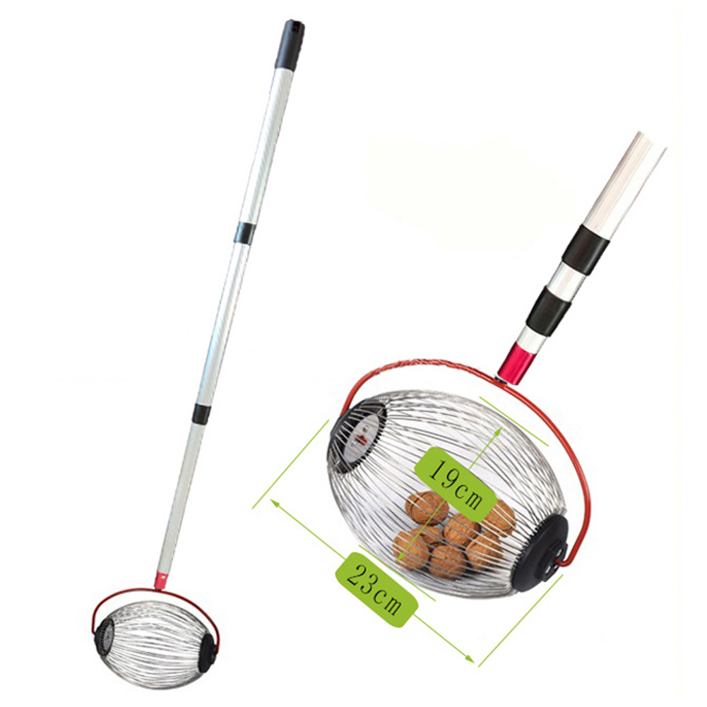 1PCS Walnuts Chestnuts Harvester Roller Nut Collector Retractable Aluminum Alloy Ball Garden Fruit Picker Family Orchards Tool