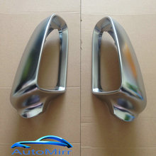 Kibowear Tapas de espejo lateral para coche, cubiertas para Audi A3, S3, 8P, A4, B7, B6, A6, S6, 4F, C6, S3, S4, S6, A3, Sportback, color plateado, cromo mate, 2002, 2004, 2008