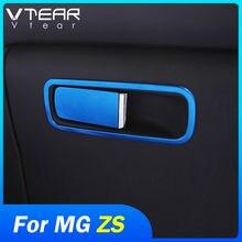 Vtear-Caja de almacenaje para guantes para coche MG ZS, cubierta embellecedora, botón, decoración de lentejuelas, accesorios, marco de mango, piezas interiores