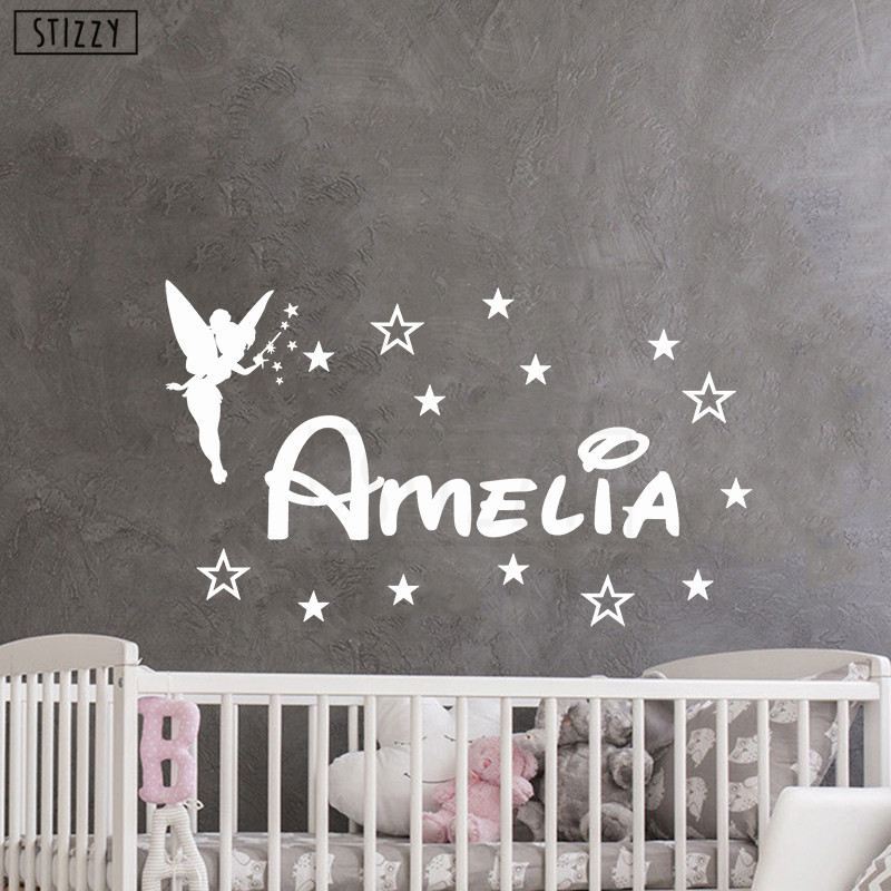 Us 2 42 24 Off Stizzy Wall Decal Cartoon S Personalized Name Stickers For Baby Nursery Room Decor Removable Stars Poster Home Diy D286 On
