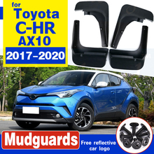 Car Accessories For Toyota C-HR CHR 2016 2017 2018 2019 4PCS Mud Flaps Splash Guards Fender Mudguard Kit Mud Flap Splash Guards free shipping car splasher mudguard mud flaps splash guards covers fit for bmw x4 1set 4pcs
