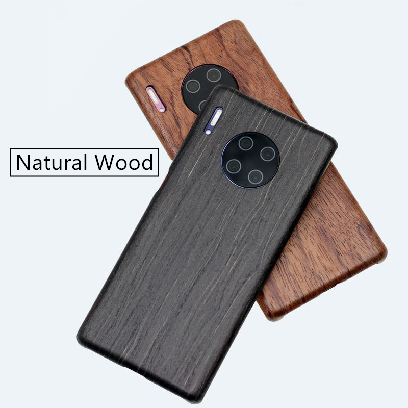 For HUAWEI MATE 30 Case Cover Luxury Slim Ultra Thin Hard Natural Wood Shockproof Armor Phone Case for P30 new user bonus image