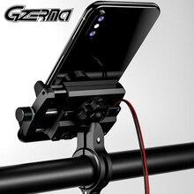 GZERMA Soporte Universal de aluminio para teléfono para motocicleta, manillar con cargador USB, soporte para teléfono móvil, Motor de Moto