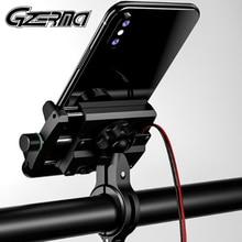 GZERMA 범용 알루미늄 자전거 오토바이 전화 홀더 USB 충전기 핸들 바 휴대 전화 홀더 오토바이 모토 모터