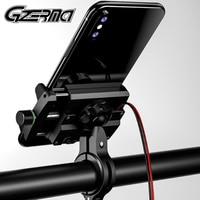 Gzerma suporte de celular universal  suporte de alumínio para motocicleta e moto  com carregador usb  para guidão