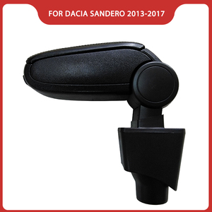 Подлокотник для RENAULT DACIA LOGAN SANDERO/STEPWAY 2013-2017, аксессуары для автомобиля, подлокотник для центральной консоли, бесплатная доставка
