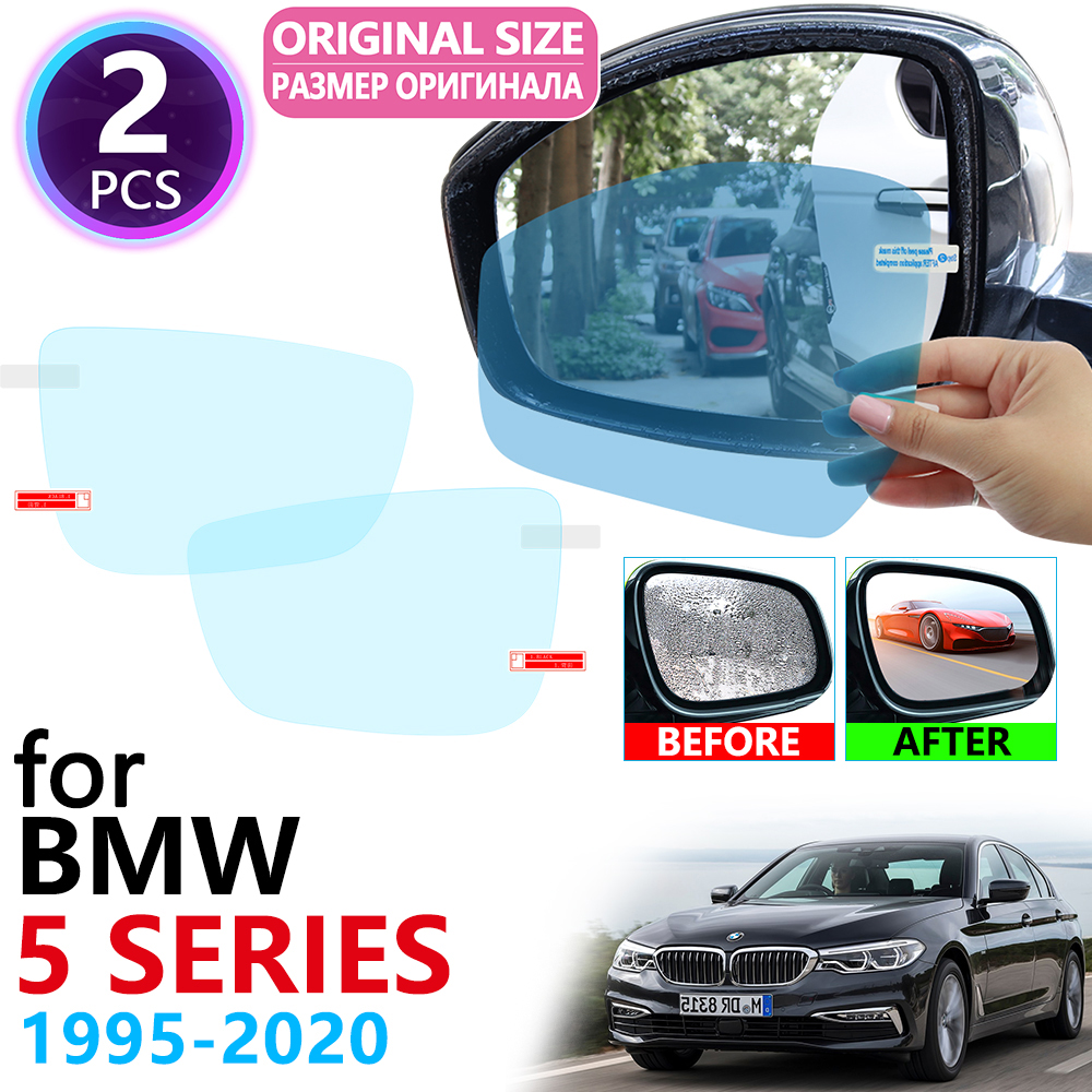 for BMW 5 Series BMW E39 E60 F10 G30 520i 525i 530i 535GT 520d M 1995~2020 Full Cover Rearview Mirror Anti Fog Film Accessories image