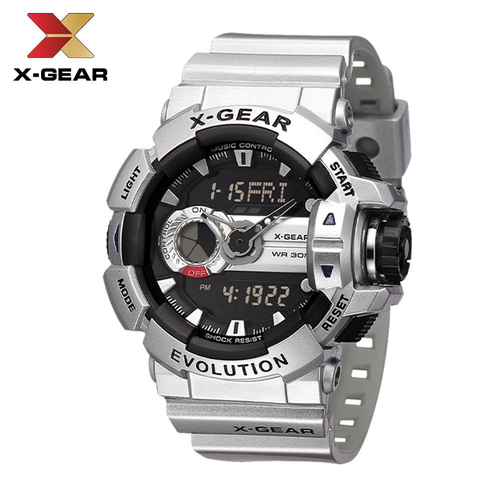 2020 Relogio Masculino X-GEAR Sport Casual Watches LED Digital Military Watches Men Clock DATE 3740 Men's Wrist Watch Clock Men