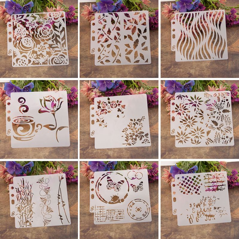 Heart Stencils Template Painting Scrapbooking Embossing Stamping Album Crafts D08F