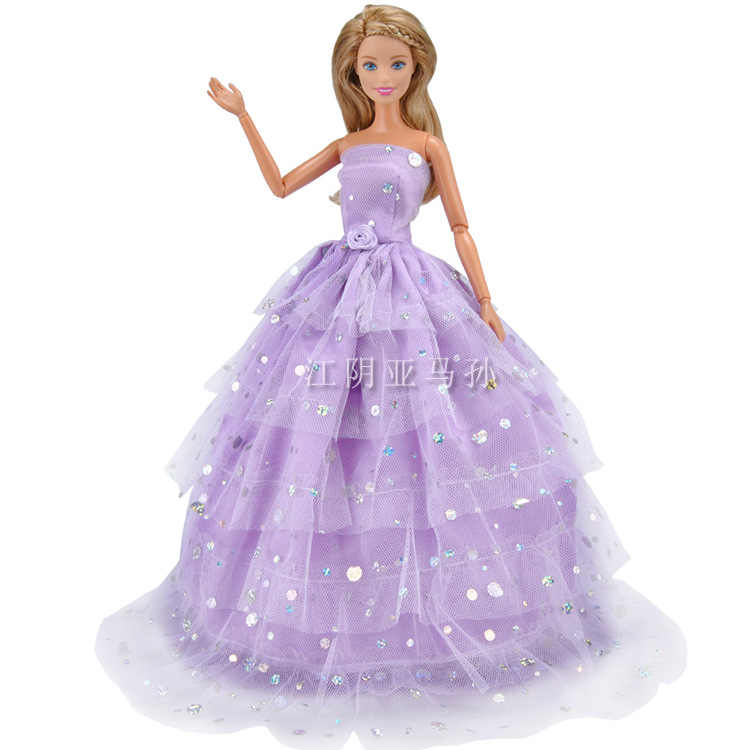 Vestiti Da Sposa Viola.Amazon Nuovo Stile Barbie Vestiti Per Le Bambole Accessori Bambola