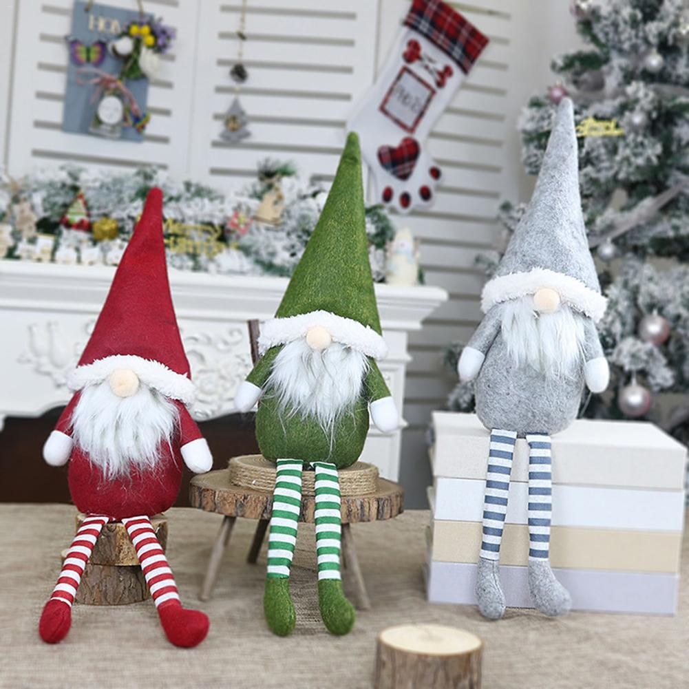 Nordic Xmas Faceless Doll Ornament Santa Claus Doll Pendant Window Decoration