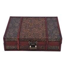 Wooden Storage Jewelry Box Big Vintage Wood Box with