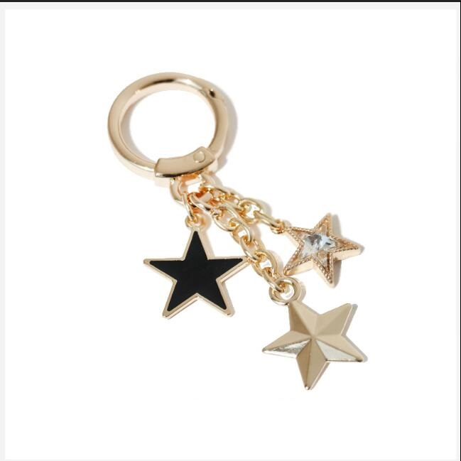 1 Pieces Bags Handbags Hardware Accessories Metal Handbags Round Rings Stars Tassel Pendant Decoration Buckle