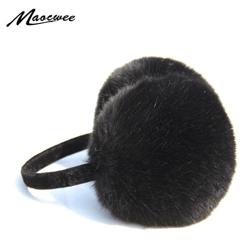 2018 Adult Winter Women Men Ear Warmer Earmuffs Lovers Ear Warmer Plush New Faux Rabbit Fur Ear Muffs For Girl Women Hot Sale