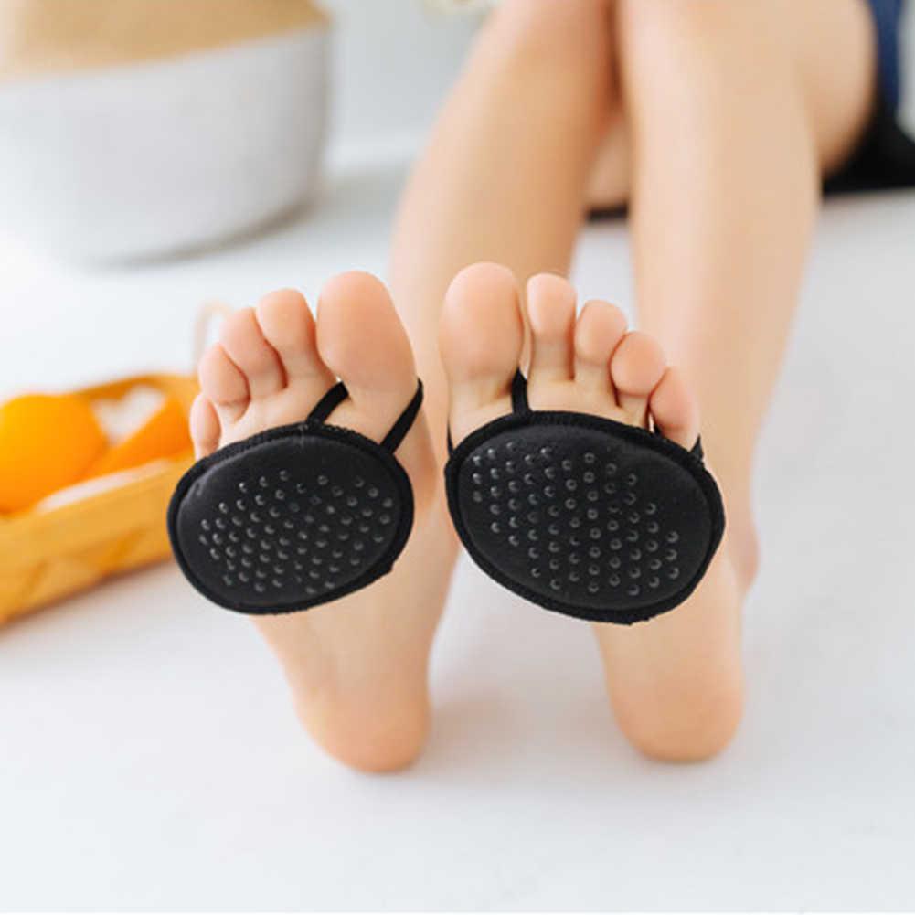 נשים קיץ כאב הקלה חצי חצר Invisible אוניית שימושי עמיד בפני החלקה גרבי קדמת כף הרגל רגל טיפול הבוהן רפידות Peds ללא עקבי חסר אצבעות