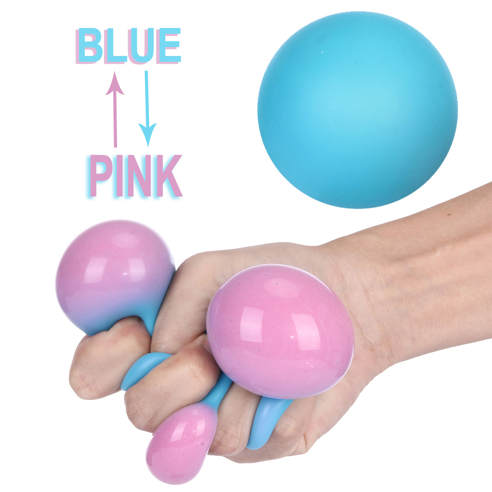 Creative Colorful Vent Ball Decompression Toy Kids And Adults Toy Pressure Ball Toy Stress Relief Change Colour Squeezing Ball img2